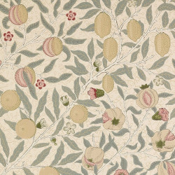 Papier peint - Morris and Co. - Fruit - Beige, vert et jaune