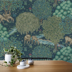 Papier peint - Morris and Co. - The Brook - Bleu foncé