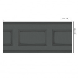 Frise - Cole and Son - Library Frieze - Charcoal