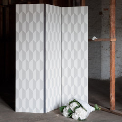 Papier peint - Cole and Son - Tile - White and White