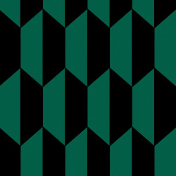 Papier peint - Cole and Son - Tile - Emerald and Black
