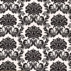 Papier peint - Thibaut - Symphony Damask - Black on White