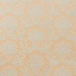 Papier peint - Thibaut - Symphony Damask - Blue on Gold Pearl