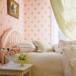 Papier peint - Thibaut - Lily of the Valley - Pink