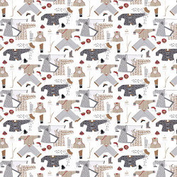 Papier peint - Thibaut - Chinese Laundry - Neutrals on White