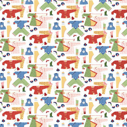 Papier peint - Thibaut - Chinese Laundry - Brights on White