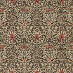 Papier peint - Morris and Co. - Snakeshead - Charcoal/Spice
