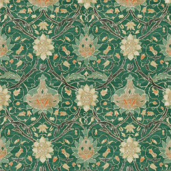 Papier peint - Morris and Co. - Montreal - Forest/Teal