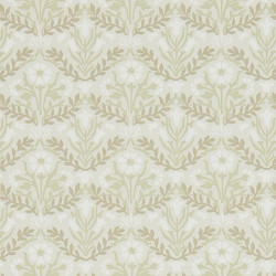 Papier peint - Morris and Co. - Morris Bellflowers - Manilla/Olive