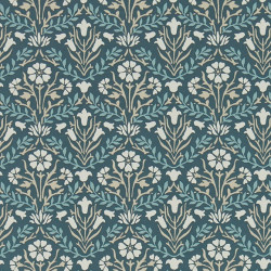Papier peint - Morris and Co. - Morris Bellflowers - Indigo/Linen