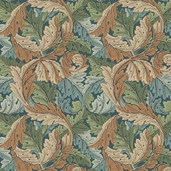 Papier peint - Morris and Co. - Acanthus - Slate Blue/Thyme