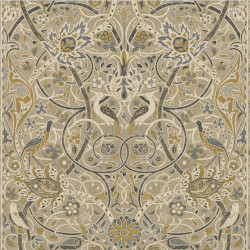 Papier peint - Morris and Co. - Bullerswood - Stone/Mustard