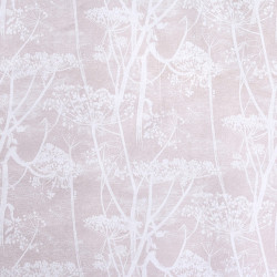 Tissu - Cole and Son - Cow Parsley 100% Lin - White & Ballet Slipper