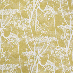 Tissu - Cole and Son - Cow Parsley 100% Lin - White & Chartreuse