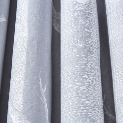 Tissu - Cole and Son - Woods Lin Mélangé - White on Soft Grey