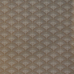 Tissu - Cole and Son - Feather Fan Jacquard - Cream on Ginger