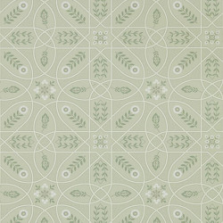 Papier peint - Morris and Co. - Brophy Trellis - Sage Linen