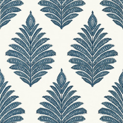 Papier peint - Anna French - PALAMPORE LEAF - Blue and White