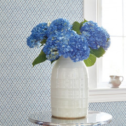 Papier peint - Anna French - MINI TRELLIS - Blue