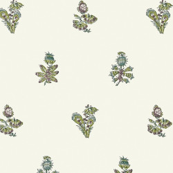 Papier peint - Anna French - JOUY - Eggplant and Green