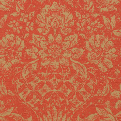 Papier peint - Thibaut - Medici - Metallic Gold on Coral
