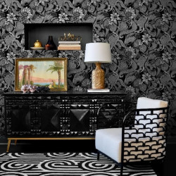Papier peint - York Wallcovering - Aubrey - Black