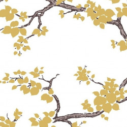 Papier peint - York Wallcovering - Branches - Gold/Black