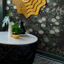 Papier peint - York Wallcovering - Chinese floral - Black/Gold