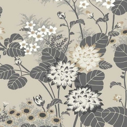 Papier peint - York Wallcovering - Chinese floral - Taupe/Charcoal