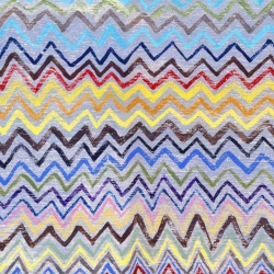 Papier peint - Mind The Gap - Zig Zag - Black, Blue, Pink, Yellow