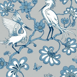 Papier peint - York Wallcovering - Egrets - Grey/Blue