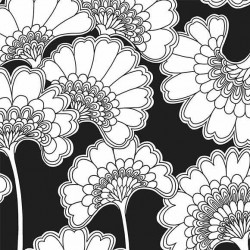 Papier peint - York Wallcovering - Japanese floral - Black