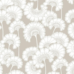 Papier peint - York Wallcovering - Japanese floral - Taupe