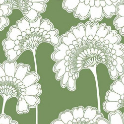 Papier peint - York Wallcovering - Japanese floral - Green