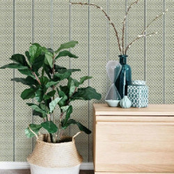 Papier peint - York Wallcovering - Japanese panels - Black/Gold