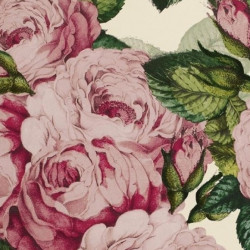 Papier peint - Designer's Guild - The rose - Swedish blue
