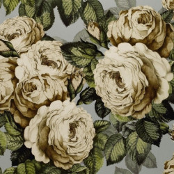 Papier peint - Designer's Guild - The rose - Steel