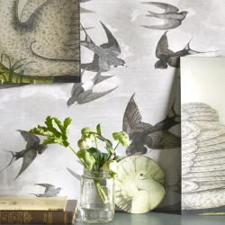 Papier peint - Designer's Guild - Chimney swallows - Dusk