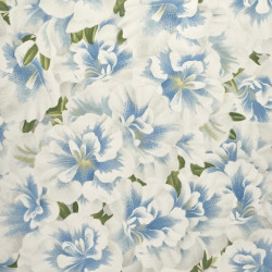 Papier peint - Designer's Guild - Variegated Azalea - Swedish blue