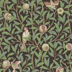Papier peint - Morris and Co. - Bird and Pomegranate - Charcoal/Sage