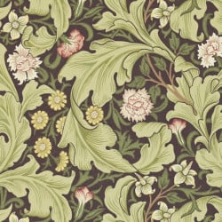 Papier peint - Morris and Co. - Leicester - Chocolate/Olive