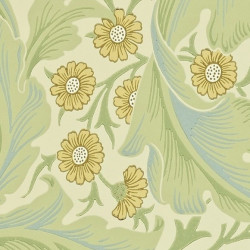 Papier peint - Morris and Co. - Leicester - Green/Coral
