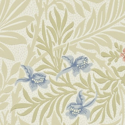 Papier peint - Morris and Co. - Larkspur - Manilla/Old Rose