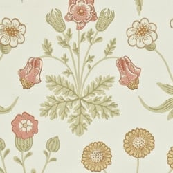 Papier peint - Morris and Co. - Daisy - Coral/Manilla