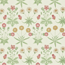 Papier peint - Morris and Co. - Daisy - Willow/Pink