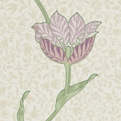 Papier peint - Morris and Co. - Garden tulip - Artichoke/Heather