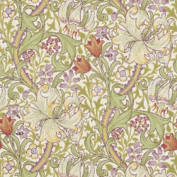 Papier peint - Morris and Co. - Golden Lily - Olive/Russet