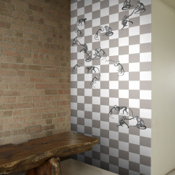 Décor mural - Cole and Son - Checkmate - Gris / Beige