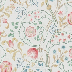 Papier peint - Morris and Co. - Mary isobel - pink/ivory