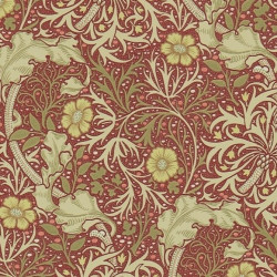 Papier peint - Morris and Co. - Morris seaweed - red/gold